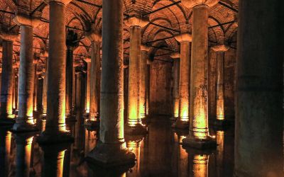 The Big Underground Water Reservoir, Yerebatan Cistern Or Basili